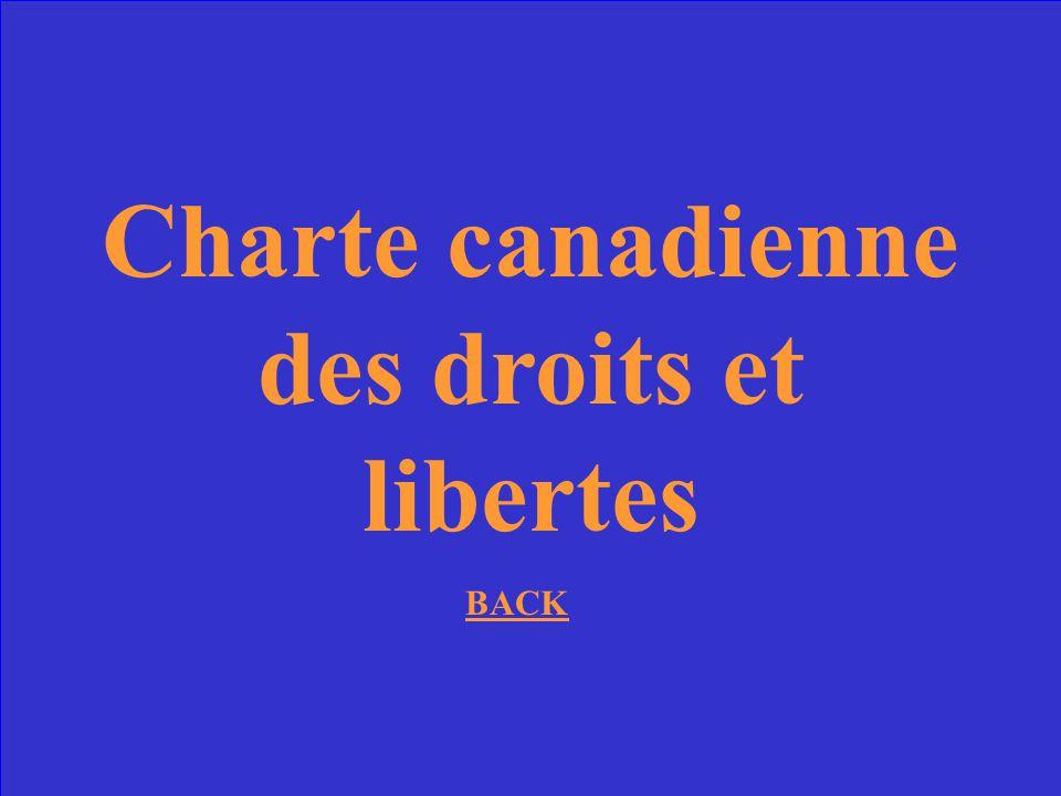 Charte canadienne des droits et libertes
