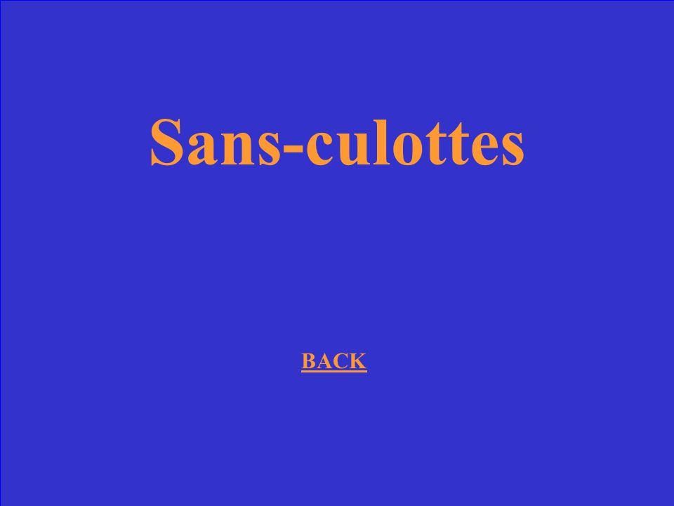 Sans-culottes BACK
