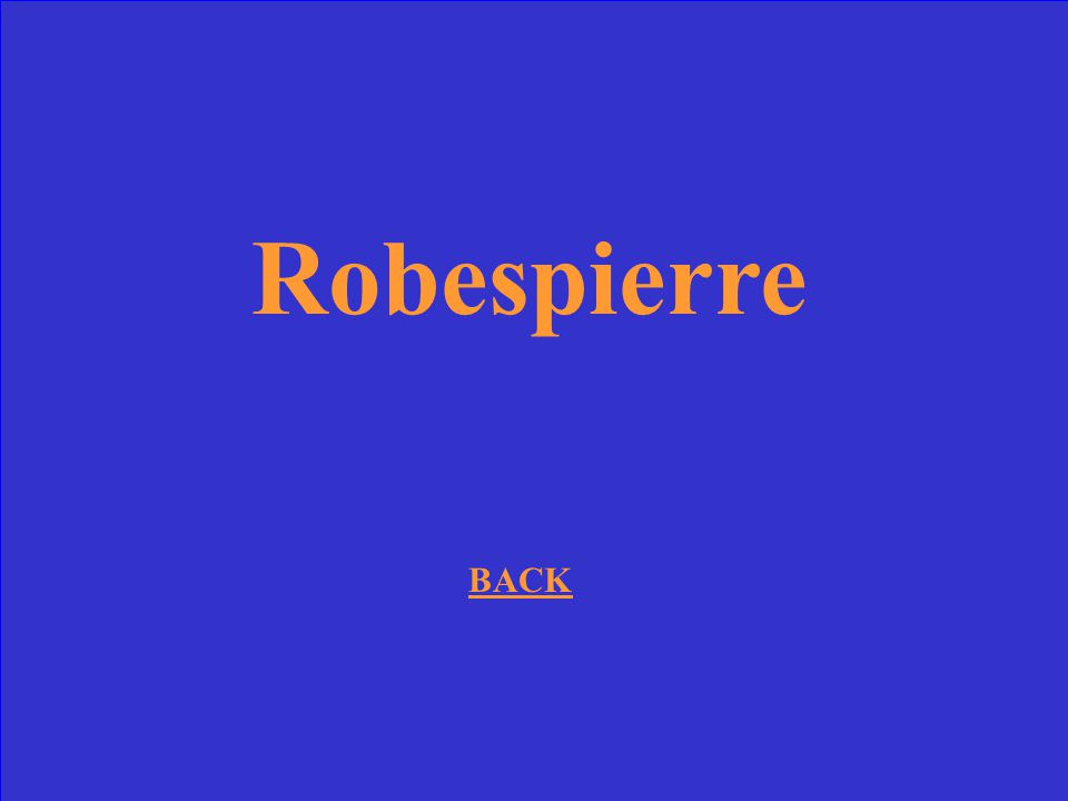 Robespierre BACK