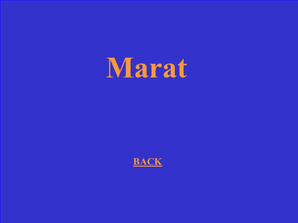 Marat BACK