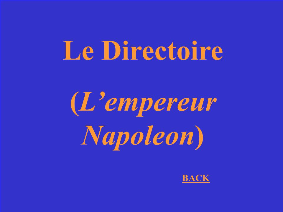(L'empereur Napoleon)