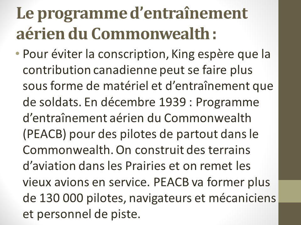 Le programme d'entraînement aérien du Commonwealth :
