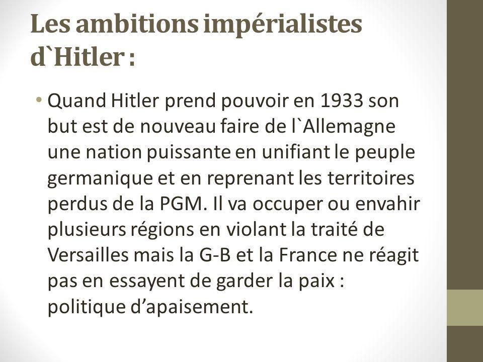 Les ambitions impérialistes d`Hitler :