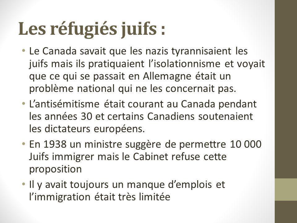 Les réfugiés juifs :