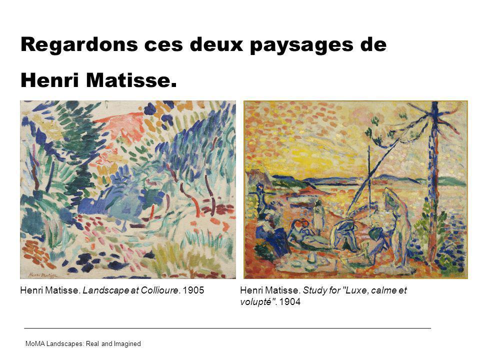 Regardons ces deux paysages de Henri Matisse.