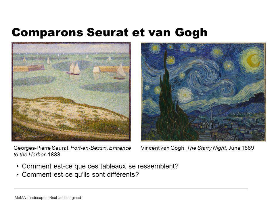 Comparons Seurat et van Gogh