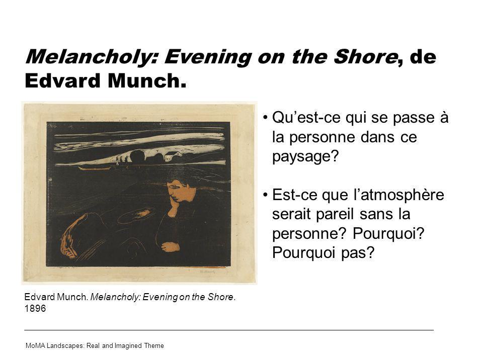 Melancholy: Evening on the Shore, de Edvard Munch.