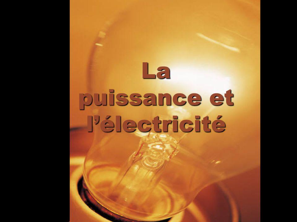 La puissance et l'électricité
