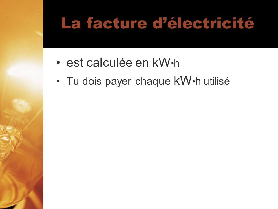 La facture d'électricité