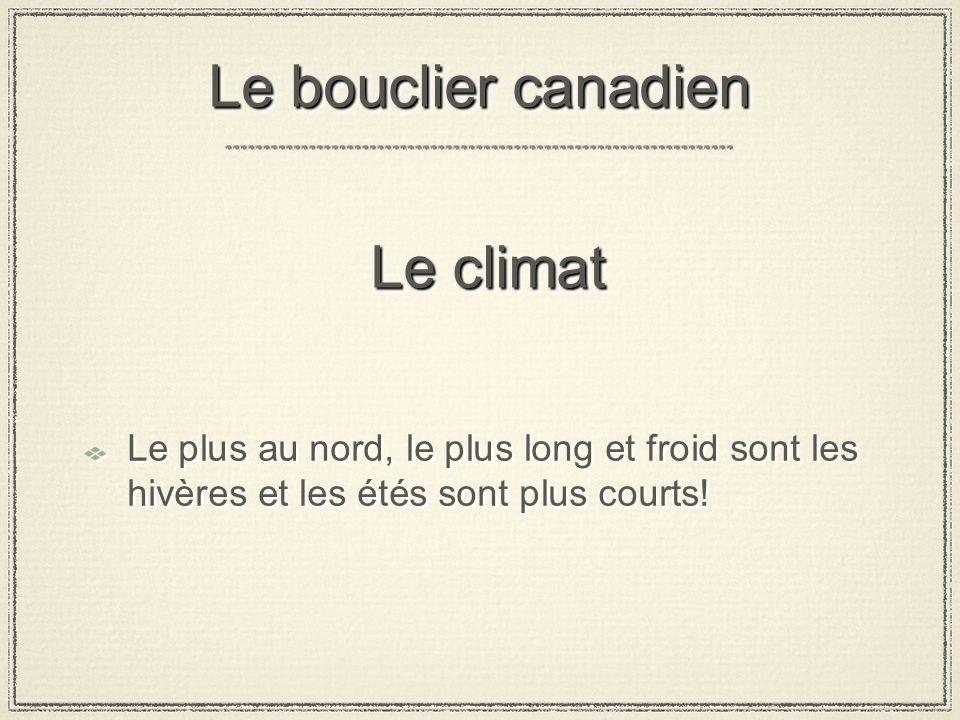 Le bouclier canadien Le climat