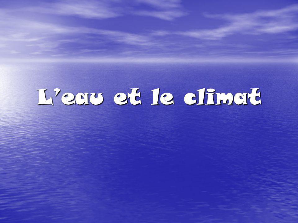L'eau et le climat