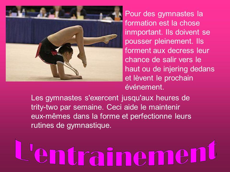 Pour des gymnastes la formation est la chose inmportant