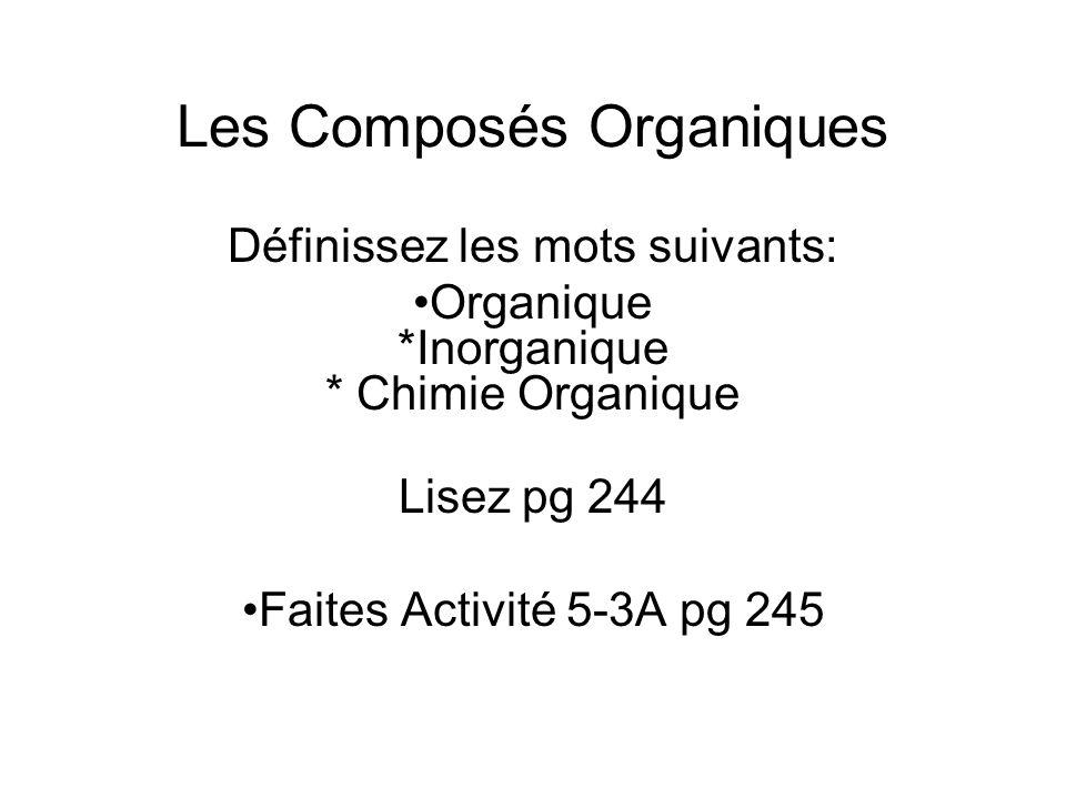 Les Composés Organiques