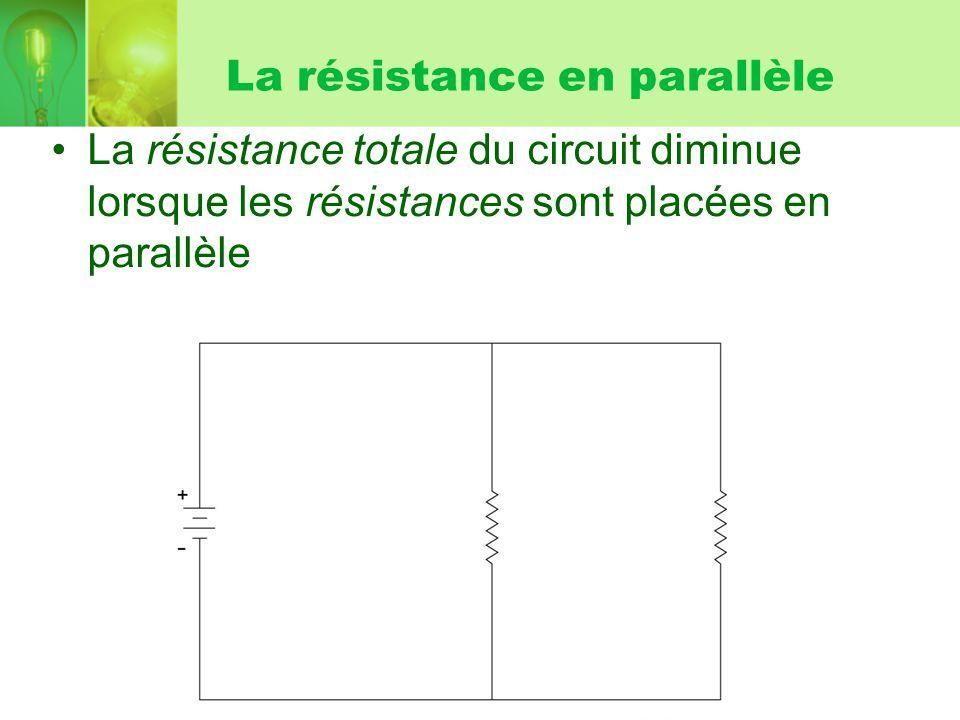 La résistance en parallèle