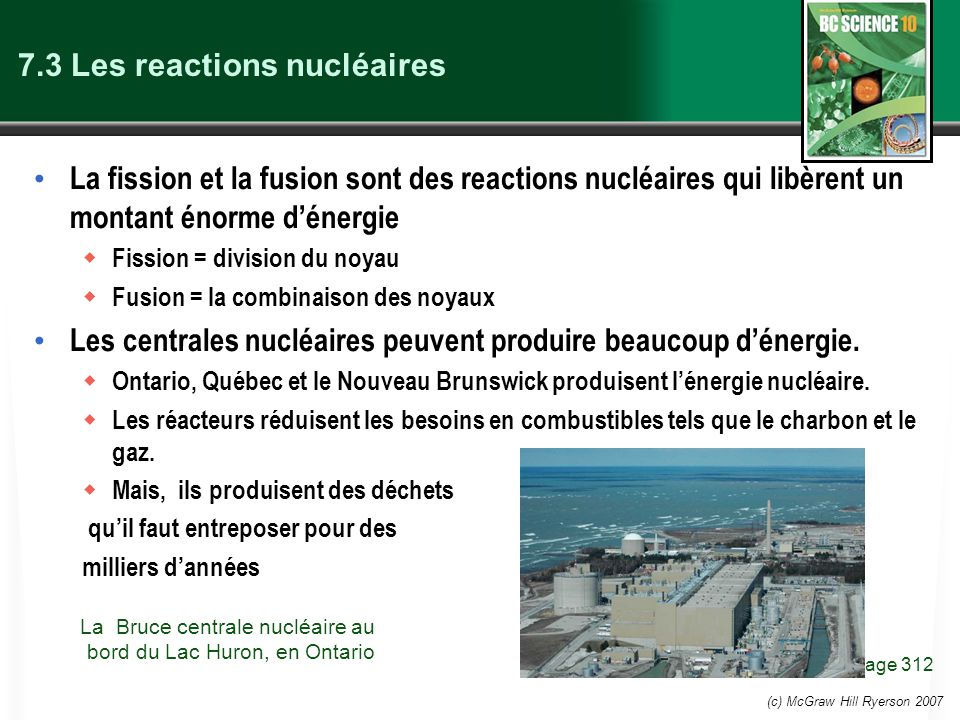 7.3 Les reactions nucléaires