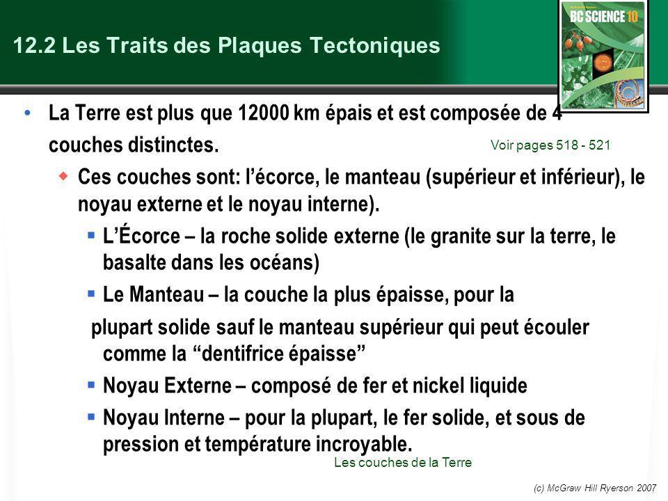 12.2 Les Traits des Plaques Tectoniques