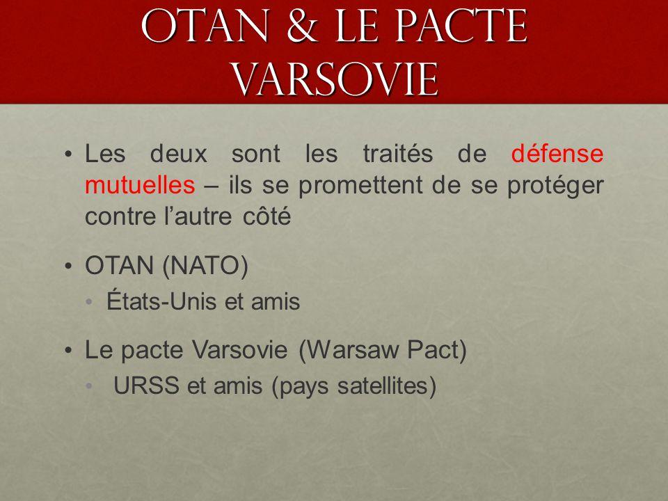OTAN & le pacte VARSOVIE