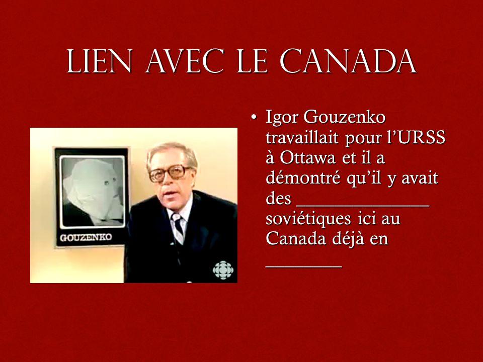 Lien avec le Canada