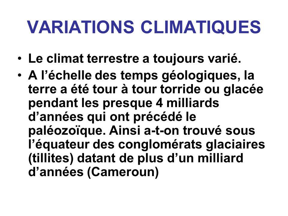 VARIATIONS CLIMATIQUES