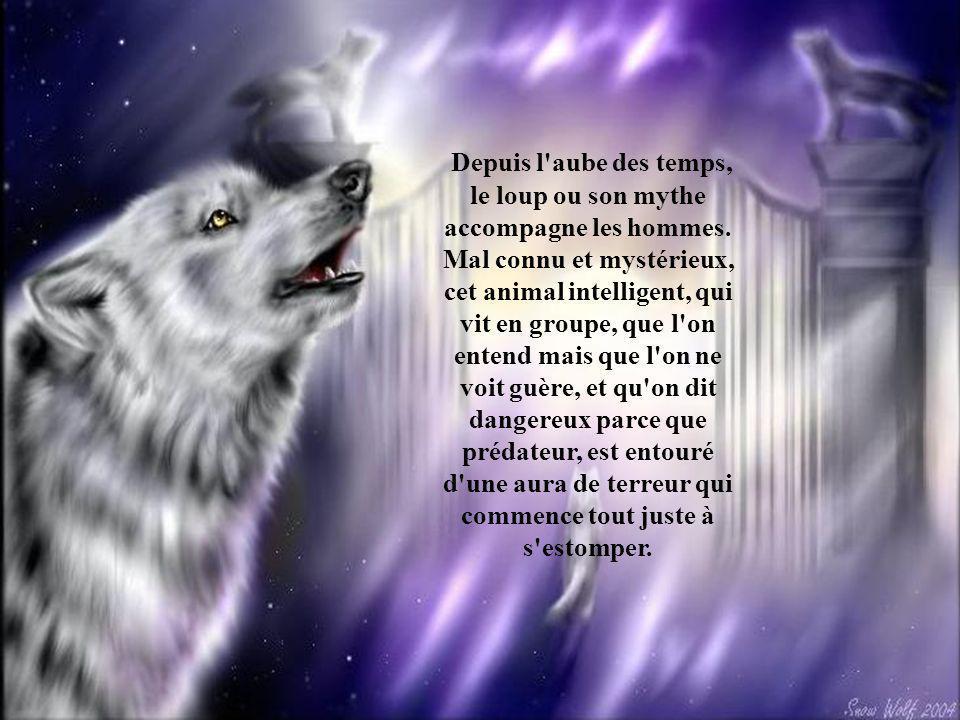 Depuis l aube des temps, le loup ou son mythe accompagne les hommes