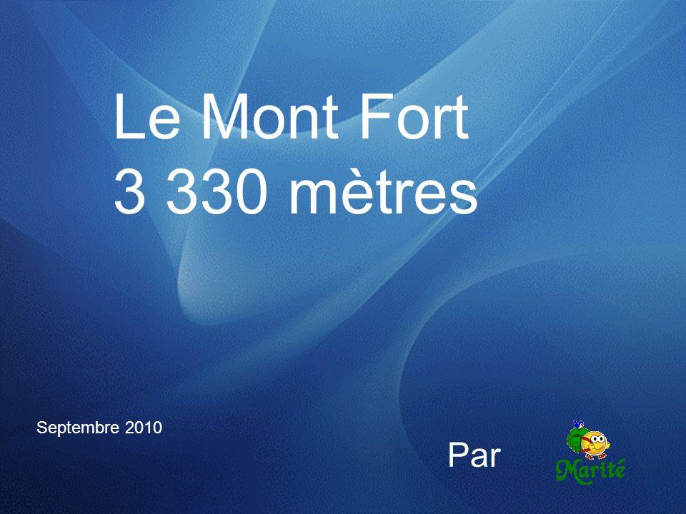 Le Mont Fort 3 330 mètres Septembre 2010 Par