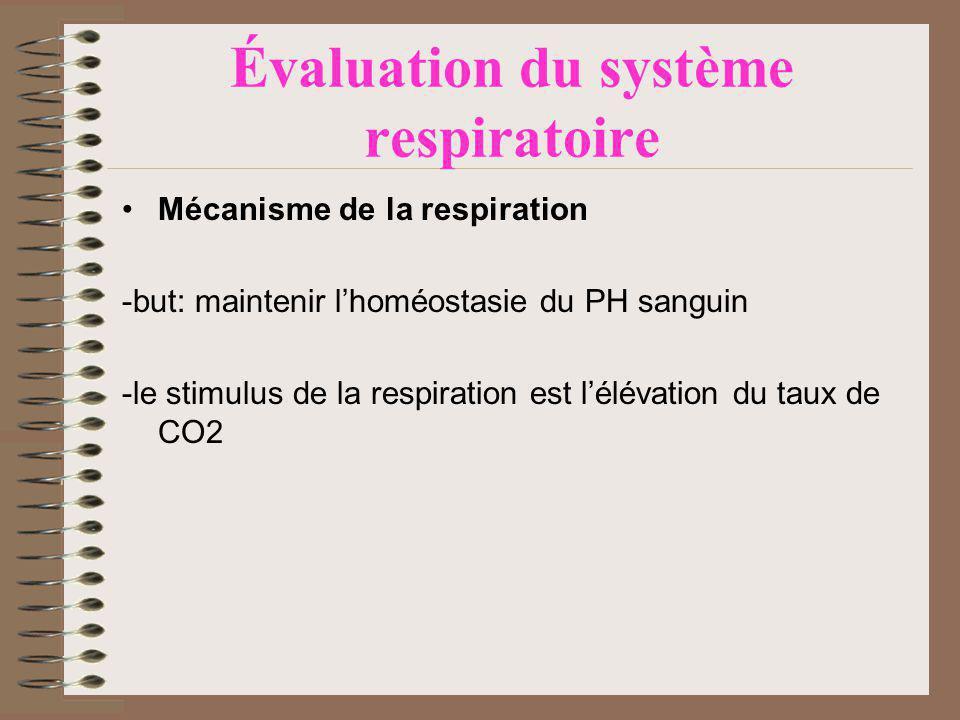 Évaluation du système respiratoire
