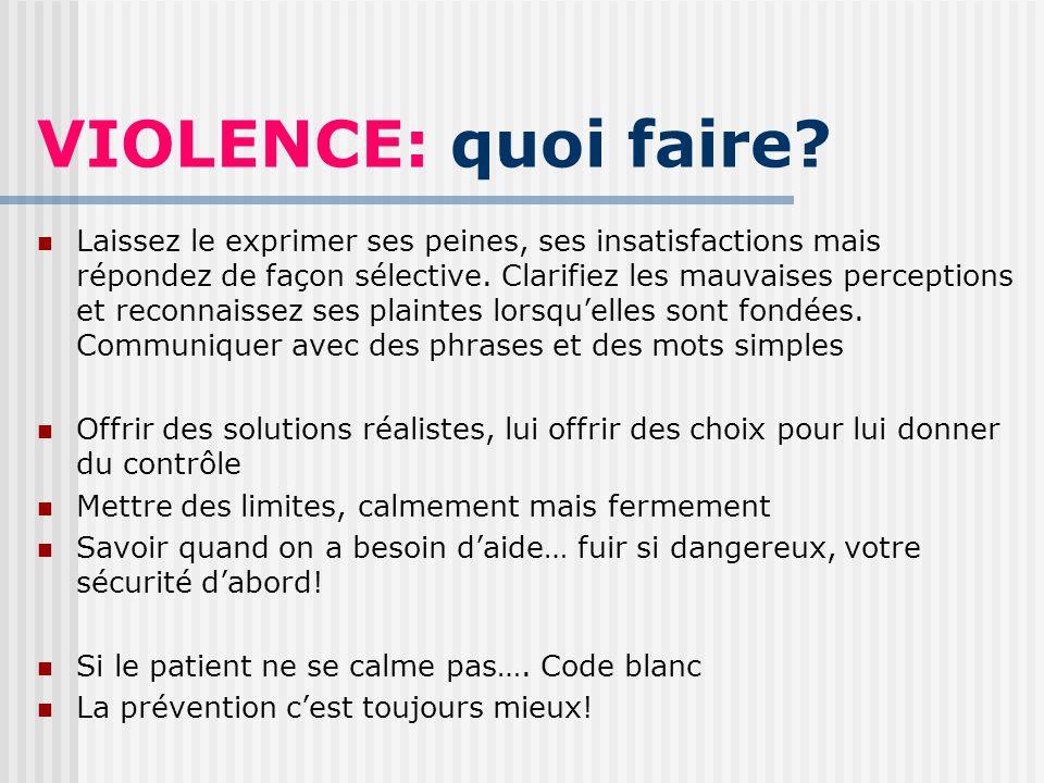 VIOLENCE: quoi faire