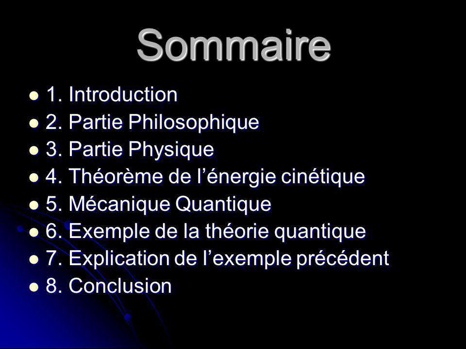 Sommaire 1. Introduction 2. Partie Philosophique 3. Partie Physique