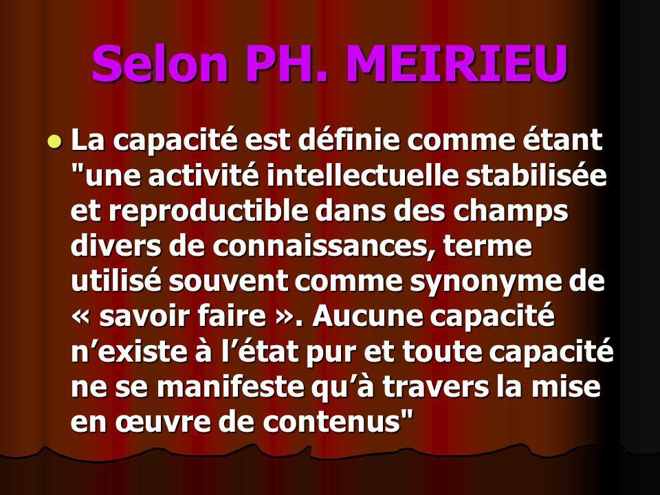 Selon PH. MEIRIEU