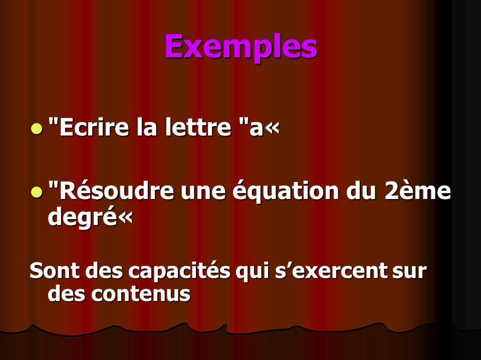 Exemples Ecrire la lettre a« Résoudre une équation du 2ème degré«