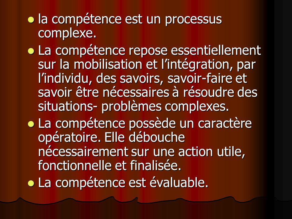 la compétence est un processus complexe.