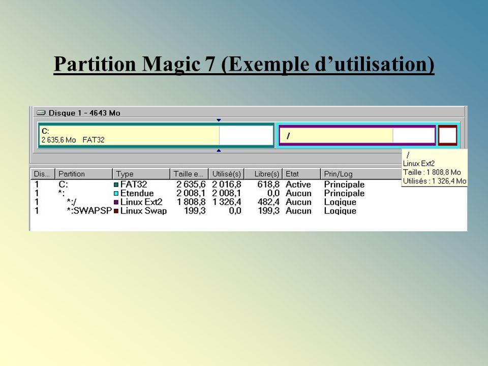 Partition Magic 7 (Exemple d'utilisation)