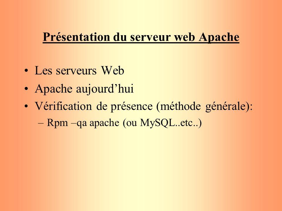 Présentation du serveur web Apache