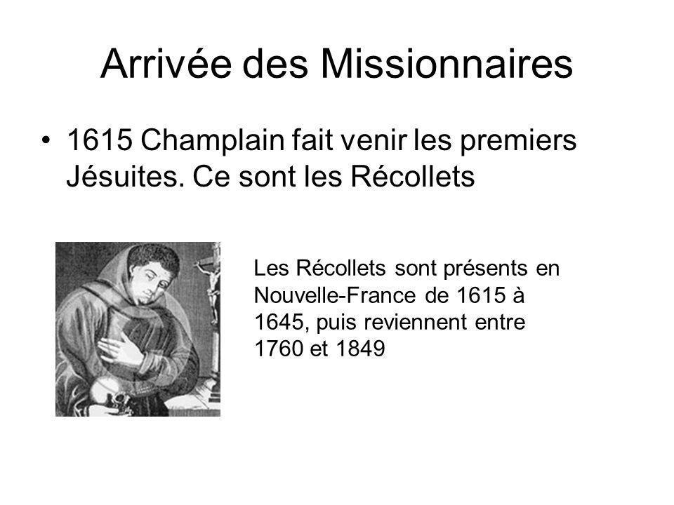 Arrivée des Missionnaires