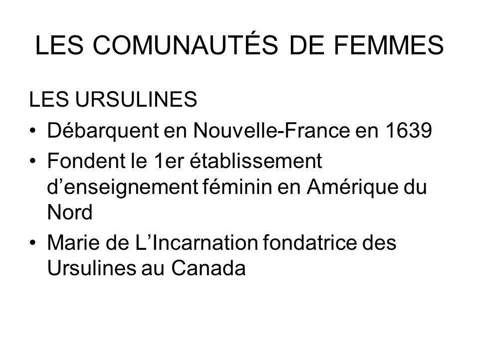 LES COMUNAUTÉS DE FEMMES