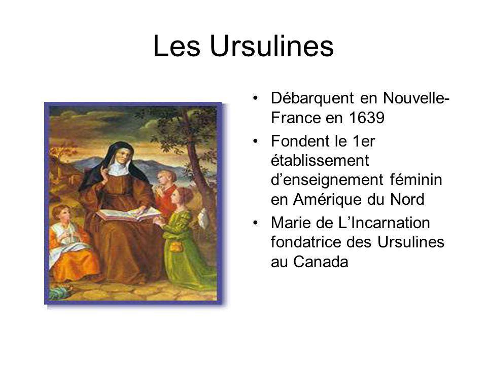 Les Ursulines Débarquent en Nouvelle-France en 1639