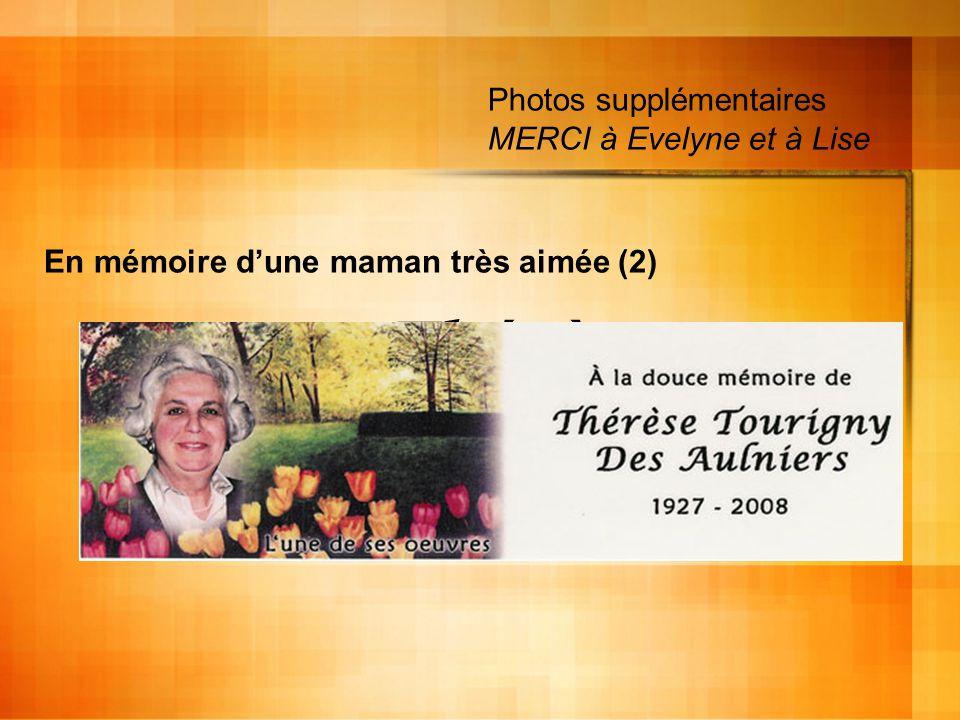 En mémoire d'une maman très aimée (2)