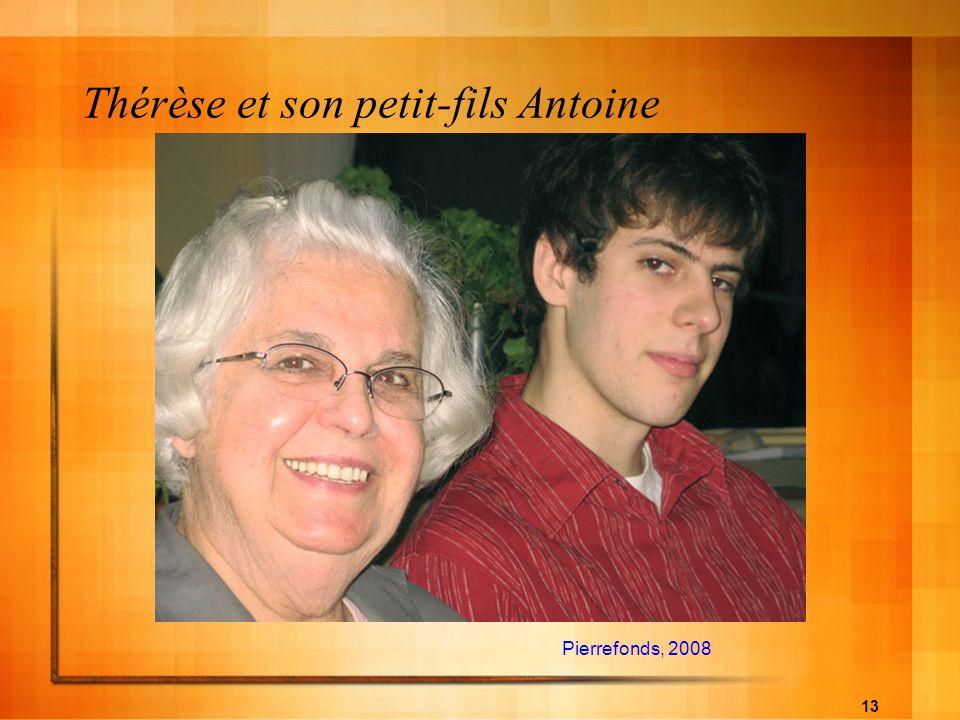 Thérèse et son petit-fils Antoine