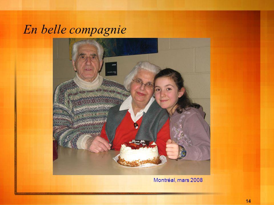 En belle compagnie Montréal, mars 2008