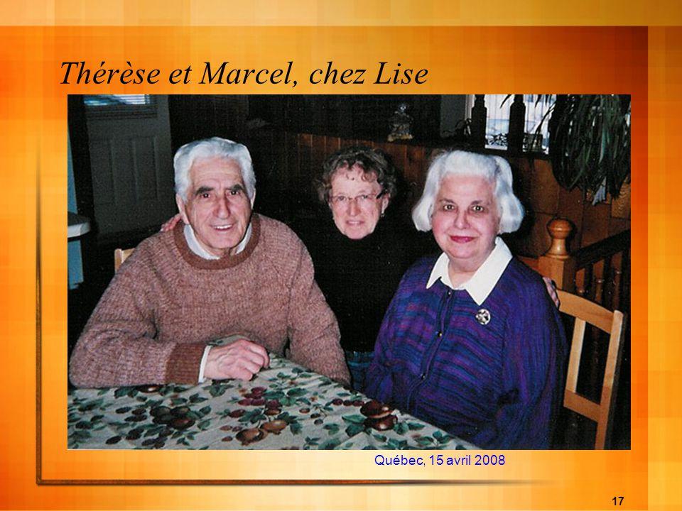 Thérèse et Marcel, chez Lise