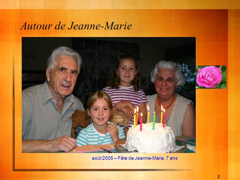 Autour de Jeanne-Marie