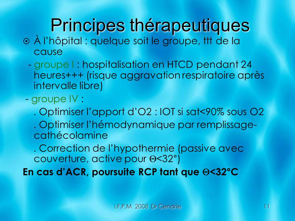 Principes thérapeutiques
