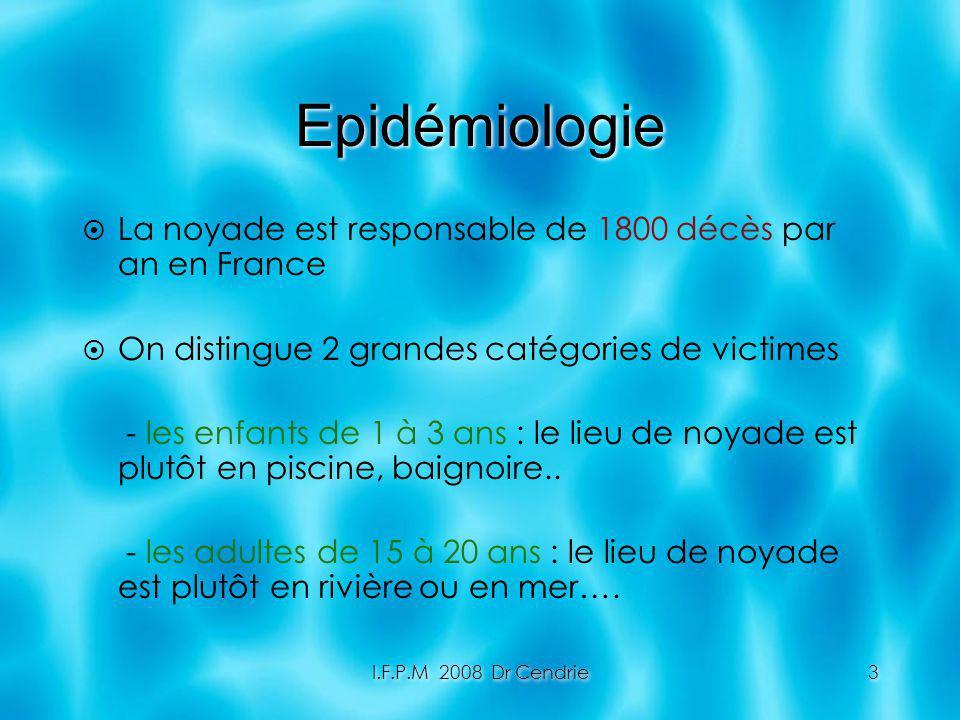 Epidémiologie La noyade est responsable de 1800 décès par an en France
