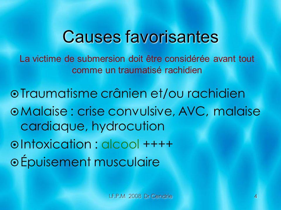 Causes favorisantes Traumatisme crânien et/ou rachidien