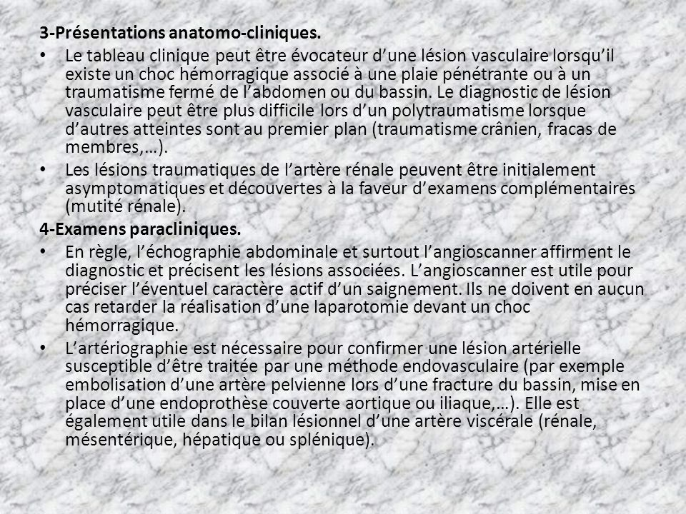 3-Présentations anatomo-cliniques.