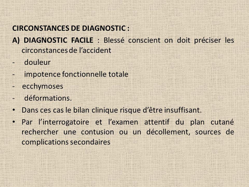 CIRCONSTANCES DE DIAGNOSTIC :
