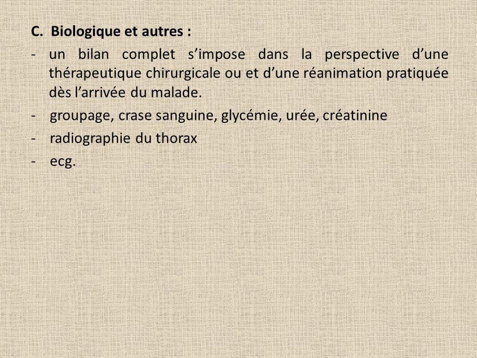 C. Biologique et autres :