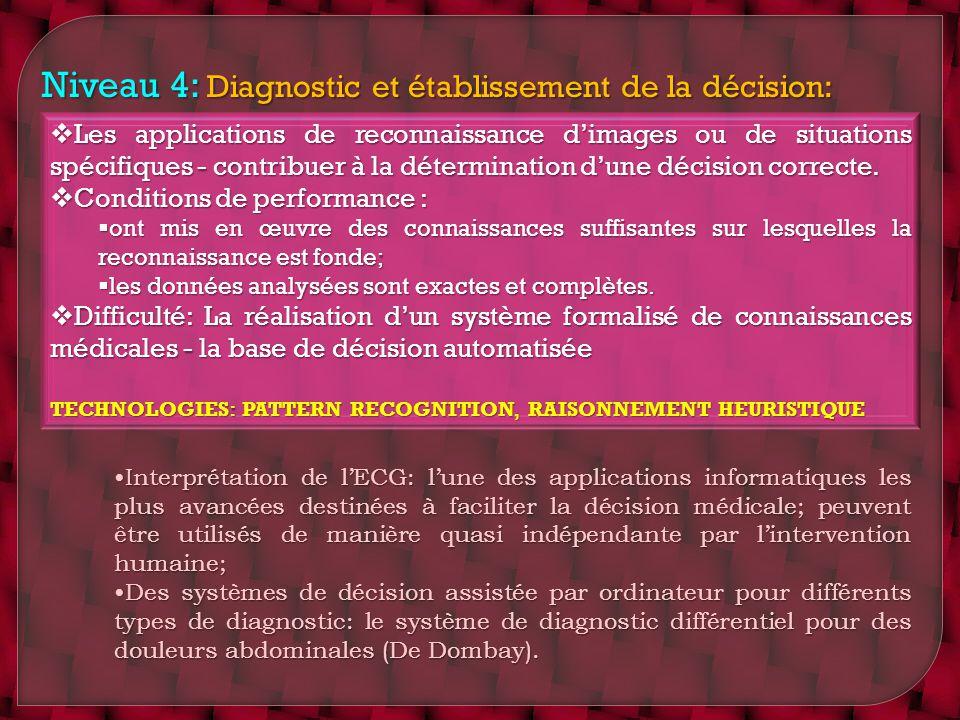 Niveau 4: Diagnostic et établissement de la décision: