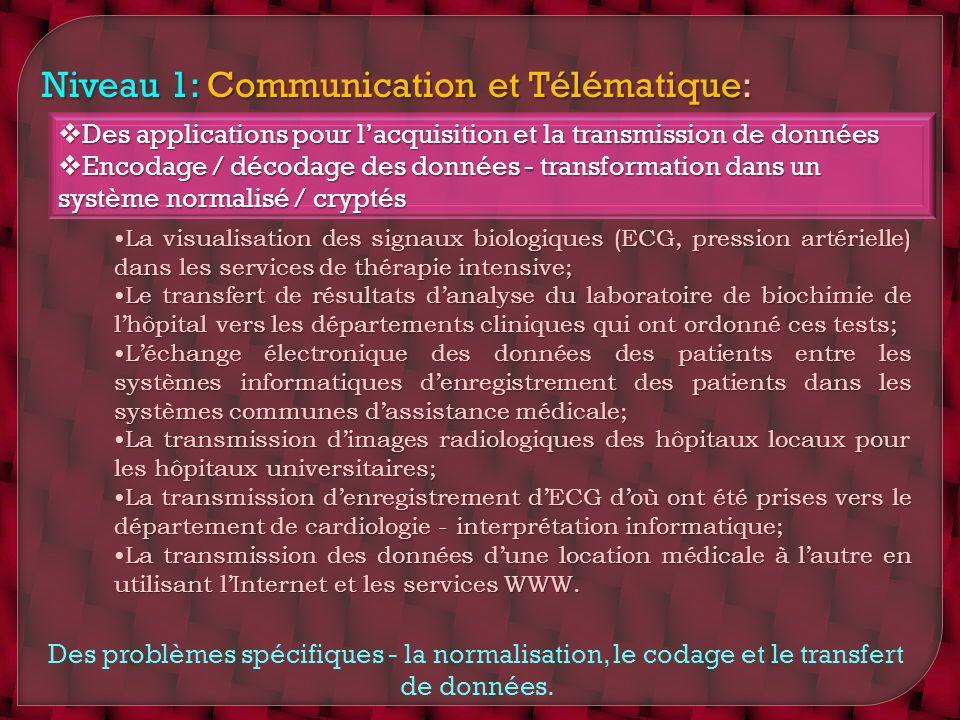 Niveau 1: Communication et Télématique: