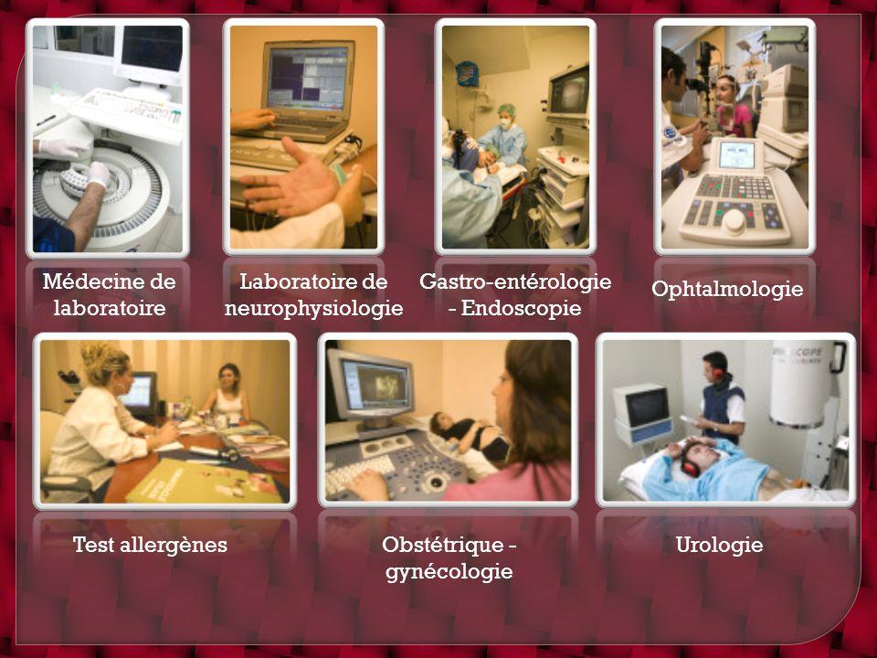 Médecine de laboratoire Laboratoire de neurophysiologie